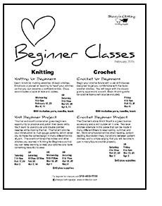 February Beginner's Classes