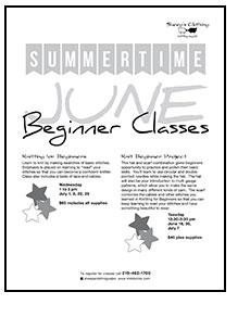 Beginner Class Schedules