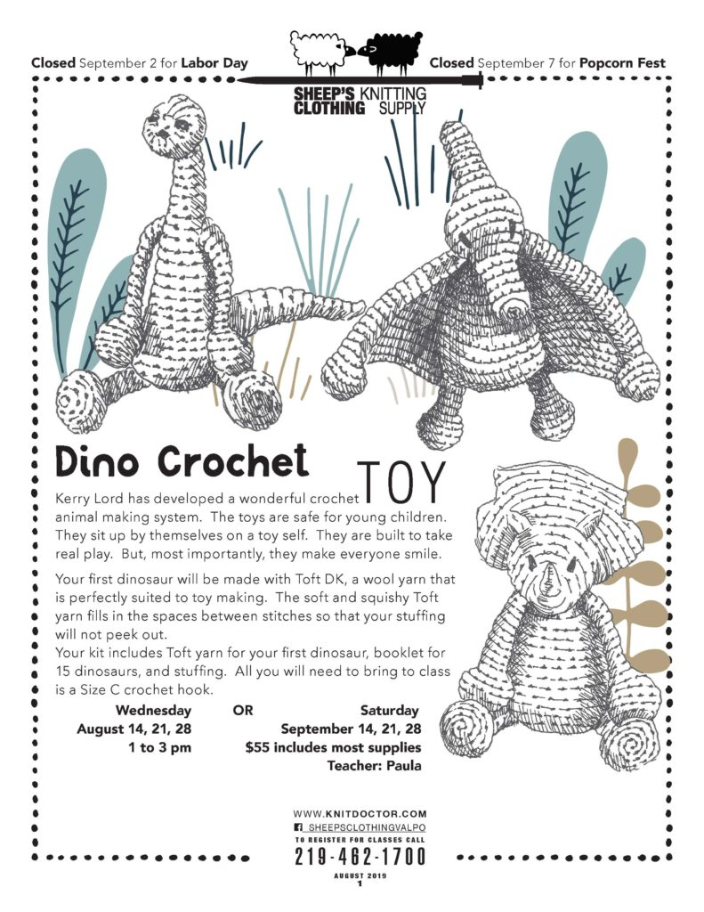 Dino crochet Toy 219-462-1700
