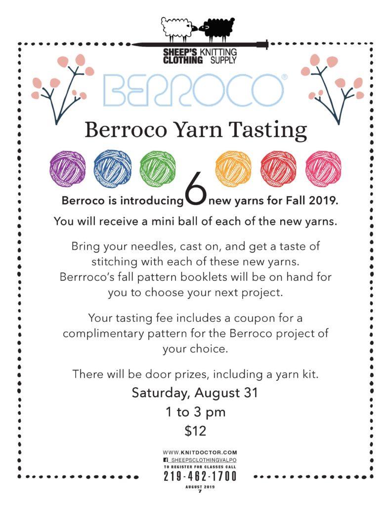 6 new yarns Knit classes 219-462-1700