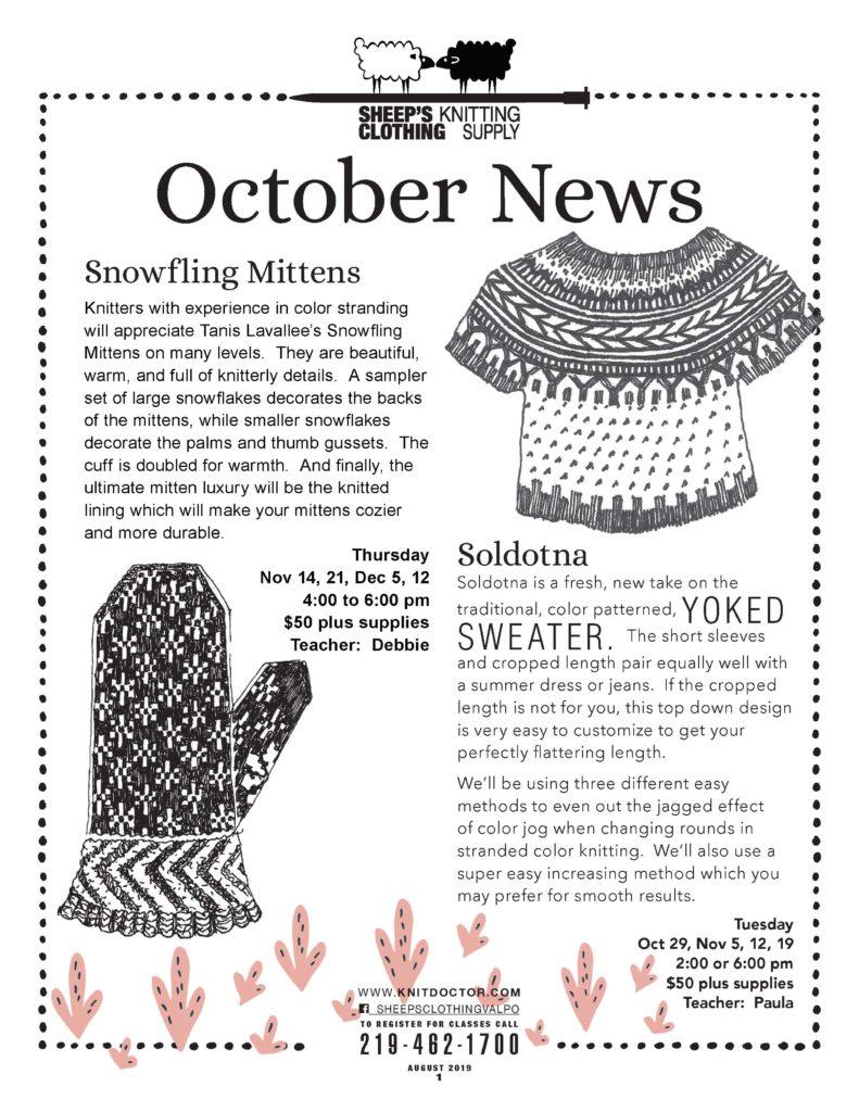 October news  Mittens Sweater