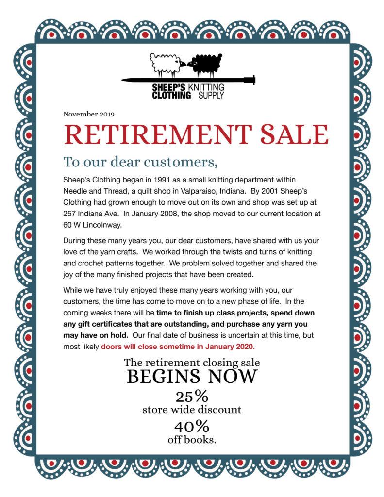 Retirement Sale Flyer