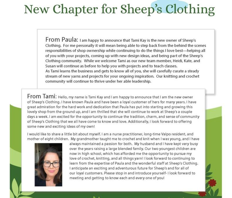 New Chapter for Sheep's Clothing