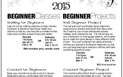2015! It's time to begin knitting or crocheting, this January.