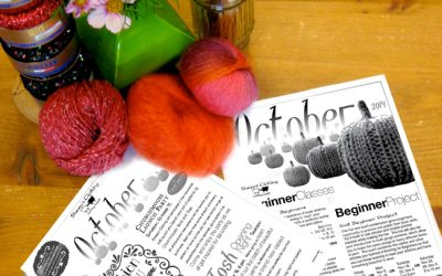 October events, new yarns and perfect fall projects!