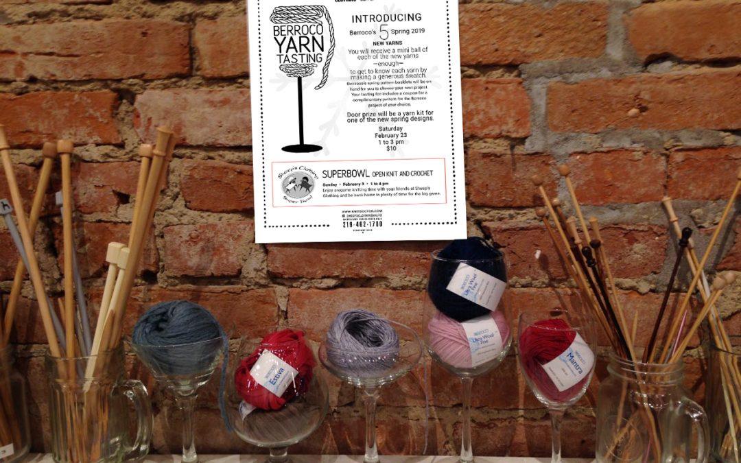 Berroco's Yarn Tasting with 5 new yarns