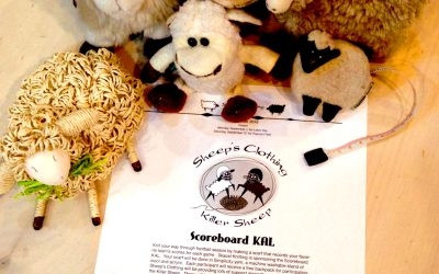 Knit your way through football season.  Scoreboard KAL!