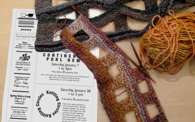 Free Demo & Practice Time: Continental Purl, Knitting Circles