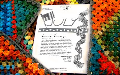 Summer camp, knit a lace sampler scarf!