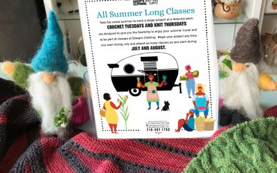 Relaxed paced summer knit and crochet projects.