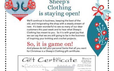 Sheep's Clothing is staying open!